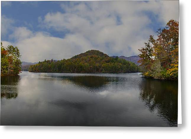 Lake Santeetlah Greeting Card by Debra and Dave Vanderlaan
