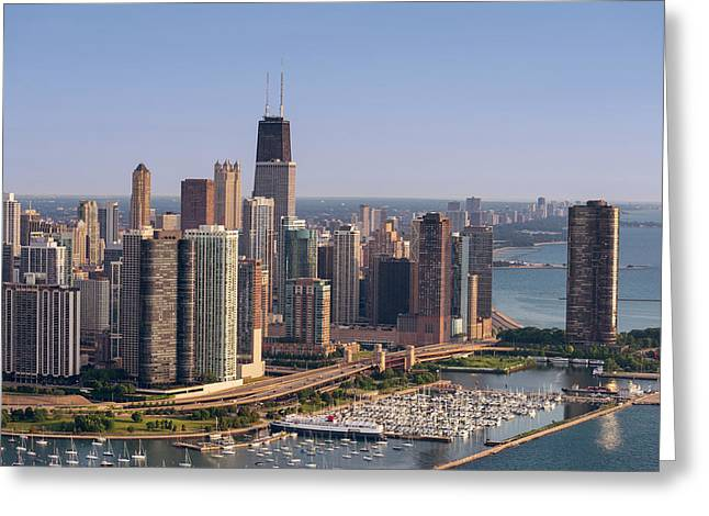 Lake Shore Drive Curve Chicago Greeting Card by Steve Gadomski