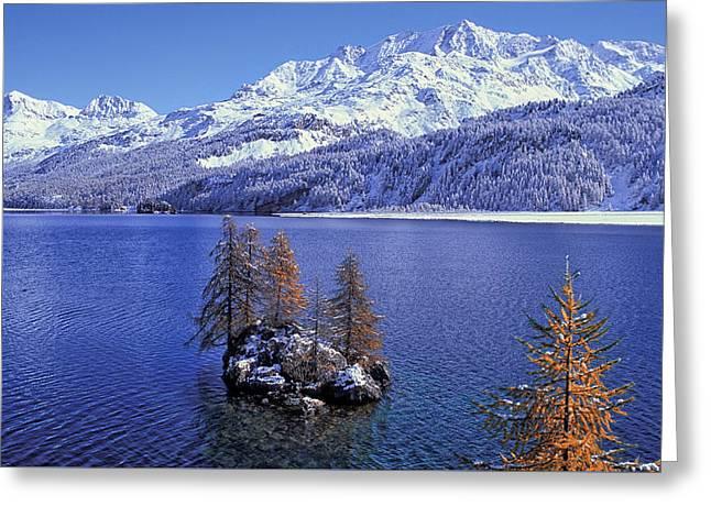 Lake Sils Greeting Card by Christian Heeb
