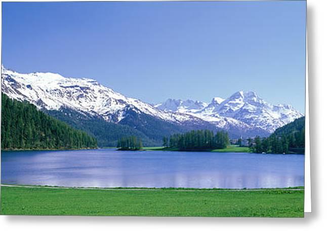 Lake Silverplaner St Moritz Switzerland Greeting Card