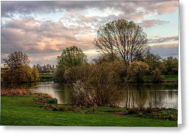 Greeting Card featuring the photograph Lake Sunset by Jeremy Hayden