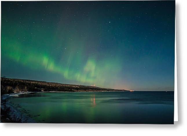Lake Superior Aurora Greeting Card