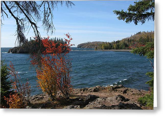 Lake Superior In The Fall Greeting Card