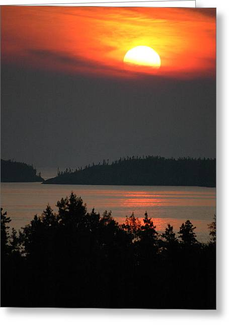 Lake Superior Sunset 2. Pukaskwa National Park Greeting Card by Rob Huntley