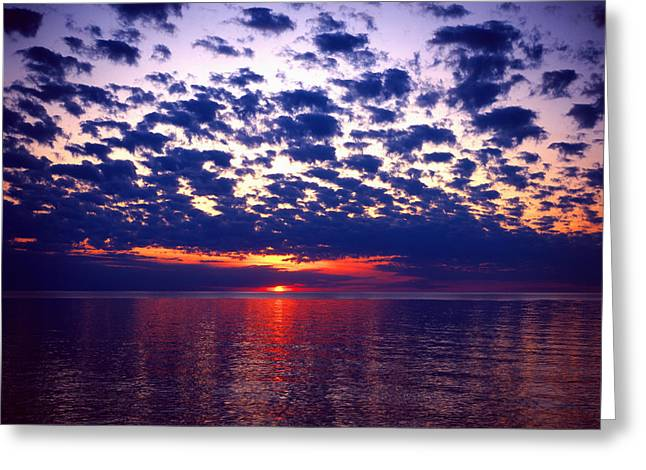 Lake Superior Sunset Greeting Card by Tim Hawkins