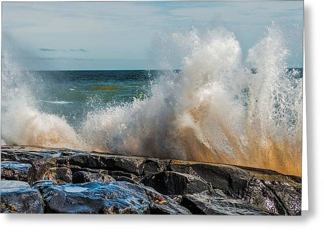 Lake Superior Waves Greeting Card by Paul Freidlund