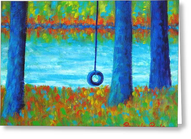 Lake Swing Tranquility Greeting Card
