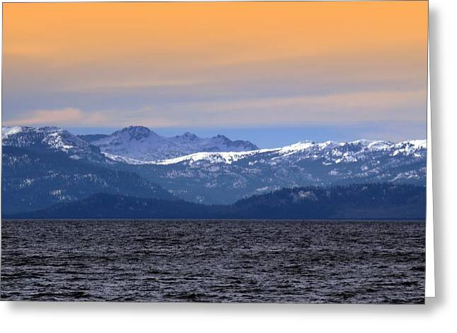Lake Tahoe And The Sierra Nevada Mountains Greeting Card