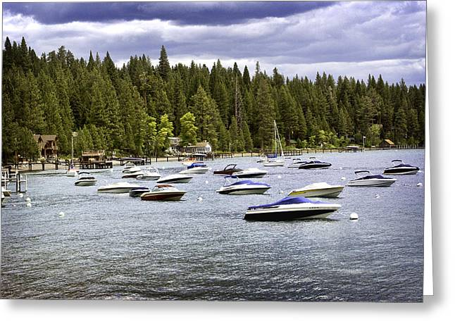 Greeting Card featuring the photograph Lake Tahoe Boats by William Havle