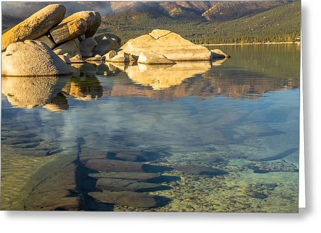 Lake Tahoe Clarity Greeting Card by Marc Crumpler