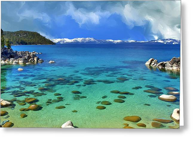 Lake Tahoe Cove Greeting Card by Dominic Piperata