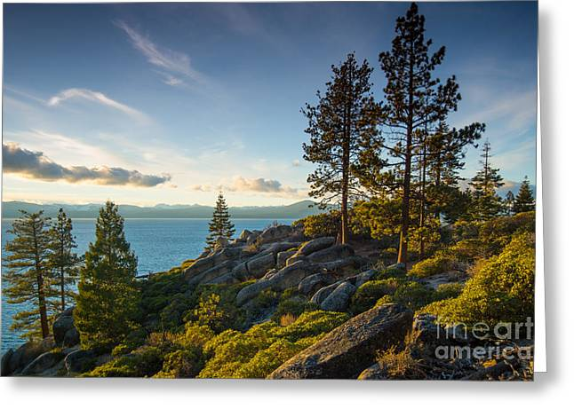 Lake Tahoe From Chimney Beach Trail Greeting Card