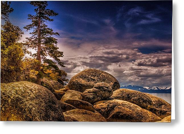Lake Tahoe From Sand Harbor Greeting Card by Janis Knight