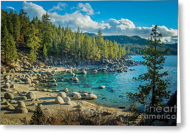 Lake Tahoe Hidden Cove Greeting Card by Janis Knight