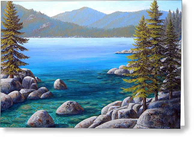 Lake Tahoe Inlet Greeting Card