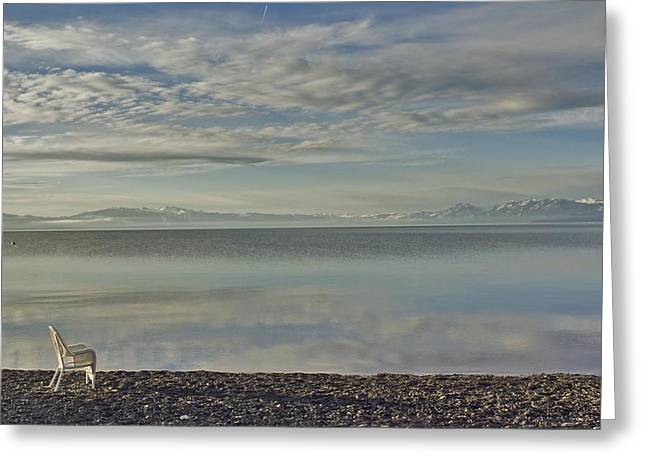 Lake Tahoe March Morning Greeting Card by Larry Darnell