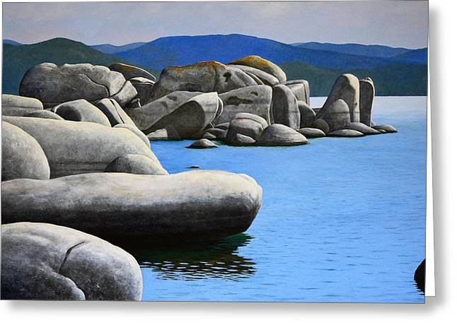 Lake Tahoe Rocky Cove Greeting Card