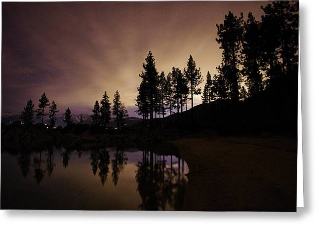 Lake Tahoe Sand Harbor Silhouette Greeting Card by Scott McGuire