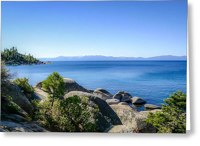Lake Tahoe Shore Greeting Card