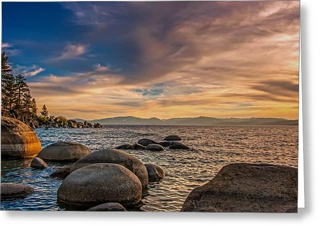 Lake Tahoe Sunset Greeting Card