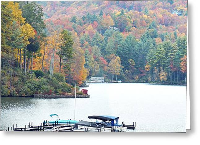 Lake Toxaway In The Fall Greeting Card