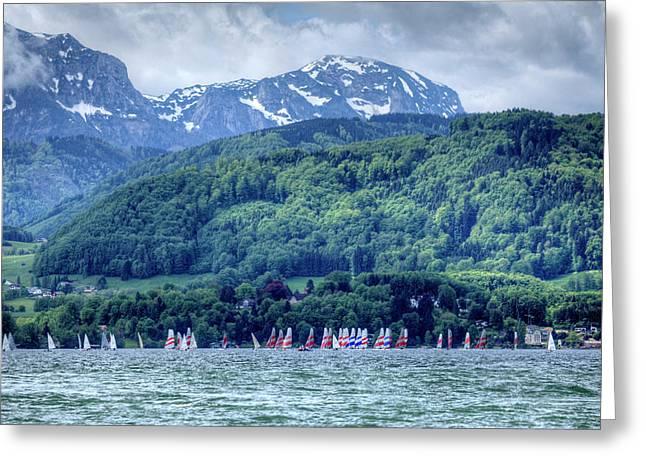 Lake Traunsee, Gmunden, Austria Greeting Card