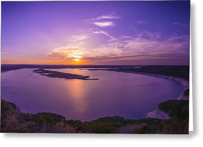 Lake Travis Sunset Greeting Card