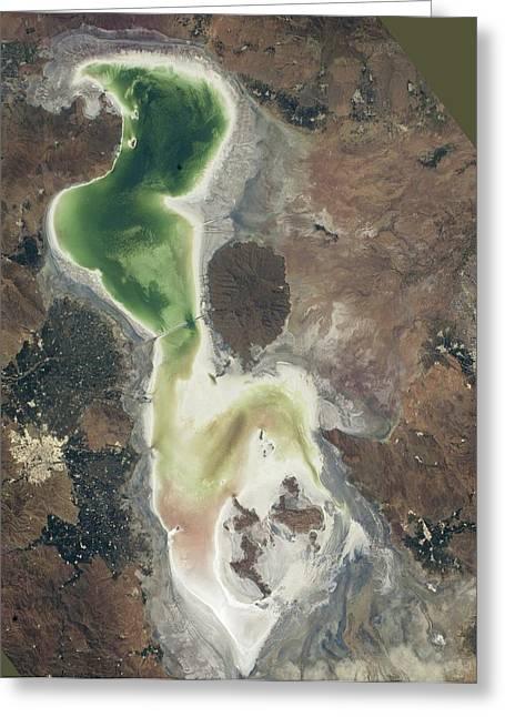 Lake Urmia Greeting Card by Nasa/johnson Space Center