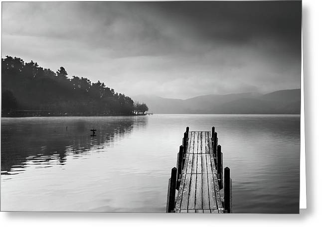 Lake View With Pier II Greeting Card