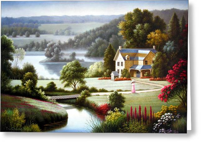 Lake Villa Greeting Card