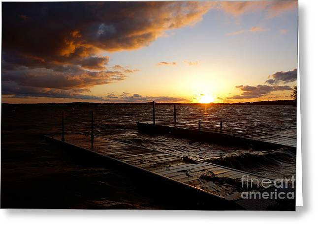 Lake Waconia Sunset Greeting Card by Jacqueline Athmann