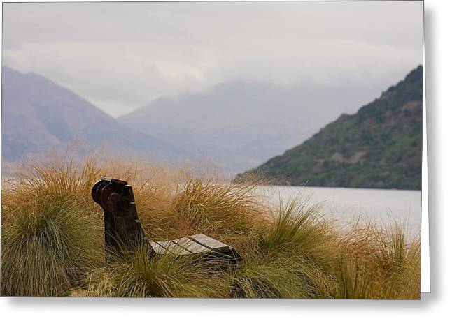 Lake Wakatipu Bench Greeting Card