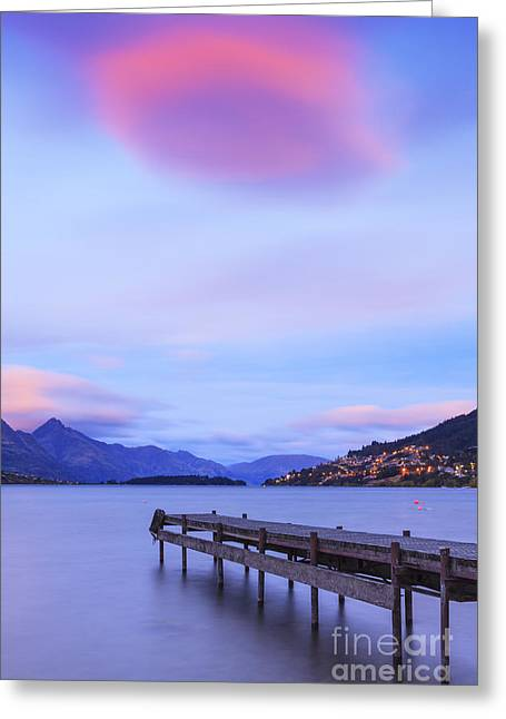 Lake Wakatipu Queenstown New Zealand Greeting Card by Colin and Linda McKie