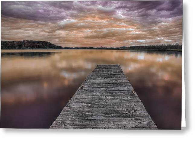 Lake White Twilight Greeting Card