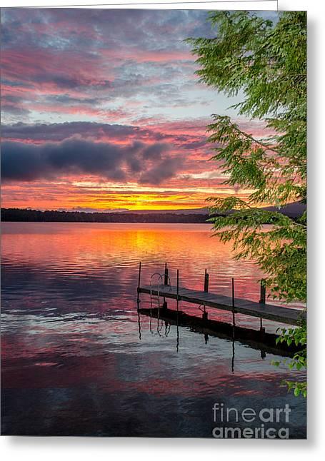 Lake Winnisquam Sunrise 2 Greeting Card