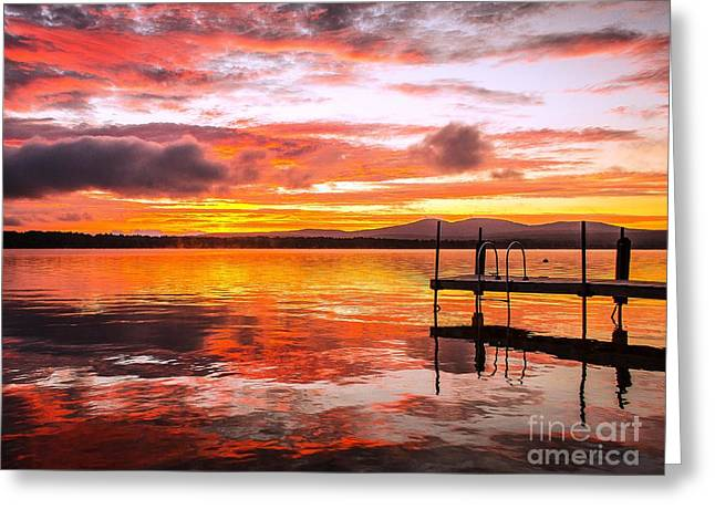 Lake Winnisquam Sunrise Greeting Card