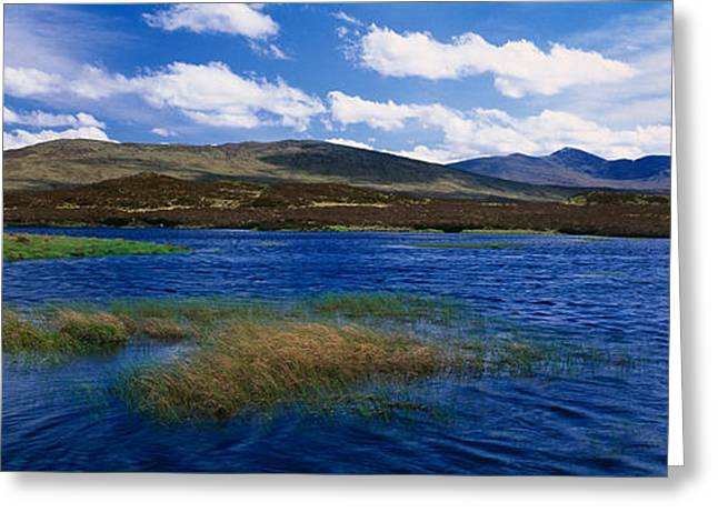 Lake With Hills In The Background Greeting Card