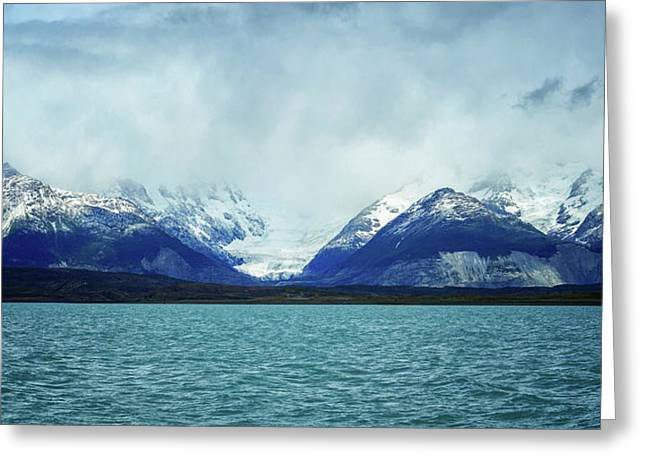 Lake With Snow Capped Mountains Greeting Card
