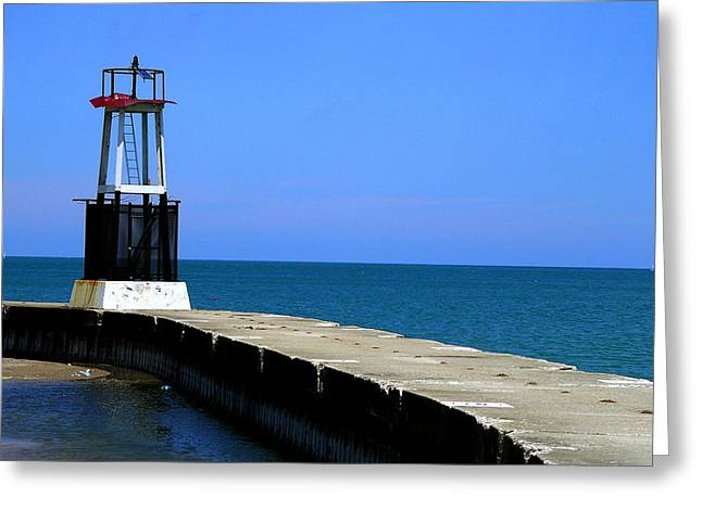 Lakefront Pier Tower Greeting Card