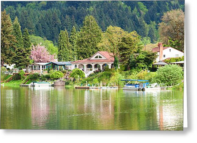 Lakefront Properties, Woodland Greeting Card by Panoramic Images
