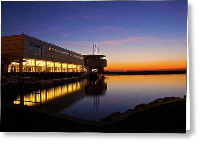 Greeting Card featuring the photograph Lakefront Sunrise by Jonah  Anderson