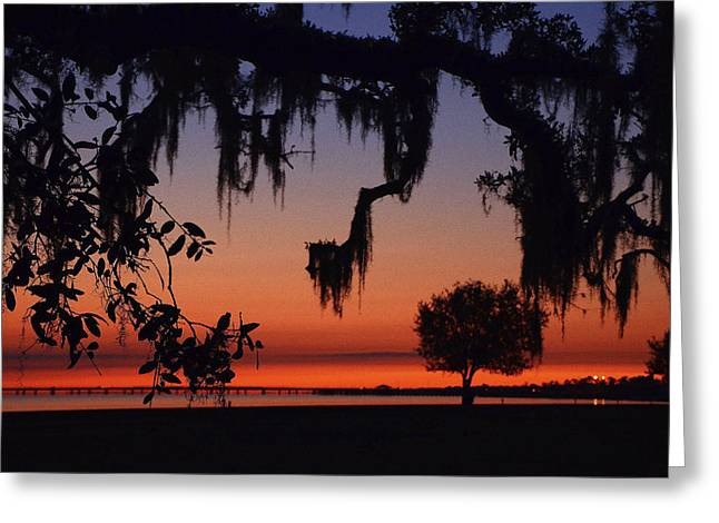Lakefront Sunset Greeting Card