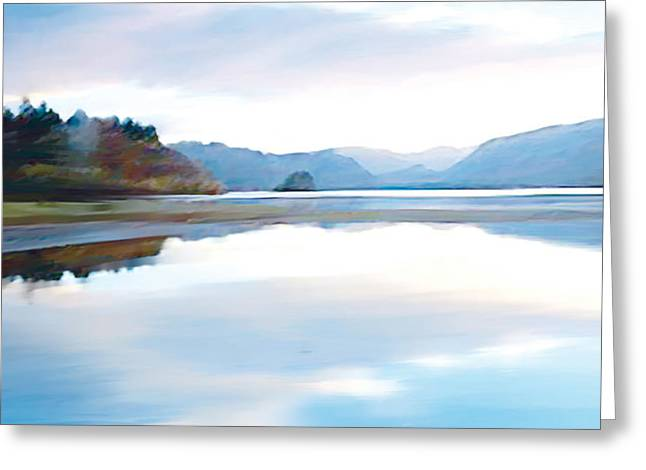Lakes Greeting Card by Neil Kinsey Fagan