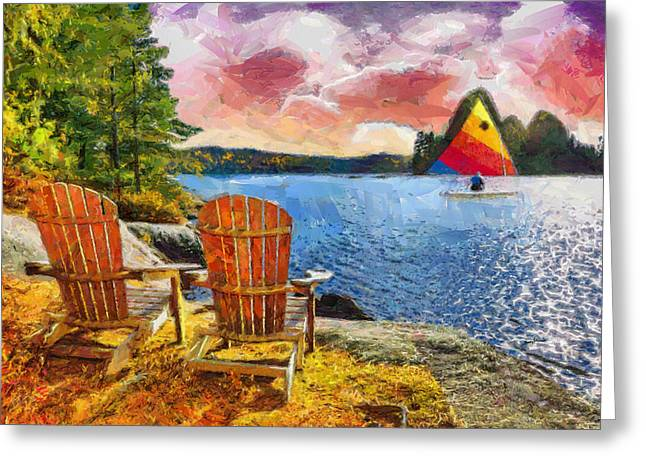 Lakescene Greeting Card by Anthony Caruso