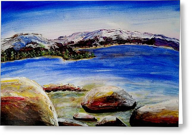 Lakeshore Boulders Greeting Card