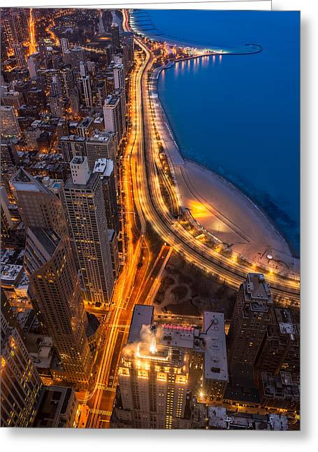 Lakeshore Drive Aloft Greeting Card