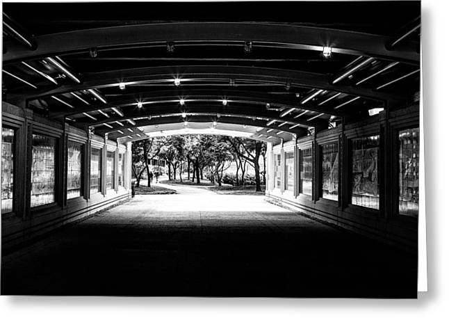 Lakeshore Tunnel Greeting Card by Robert  FERD Frank