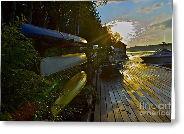 Greeting Card featuring the photograph Lakeside by Alice Mainville