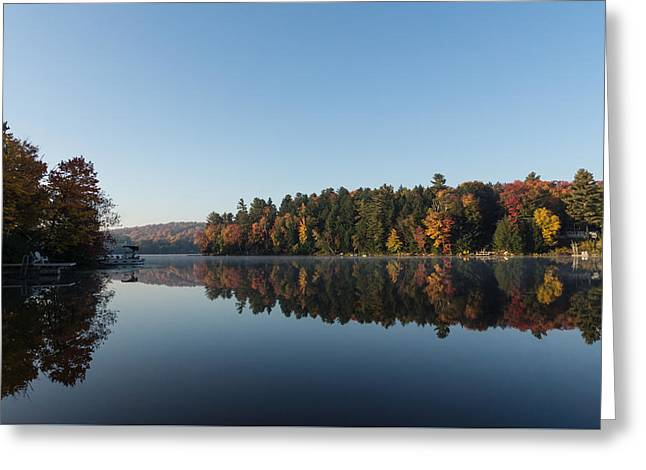Lakeside Cottage Living - Peaceful Morning Mirror Greeting Card