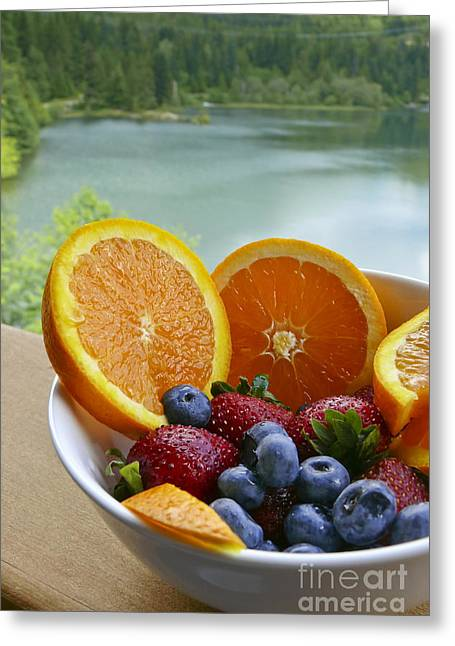 Lakeside Fruit Bowl Greeting Card